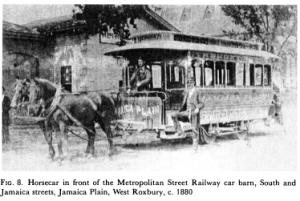 horse-drawn streetcar